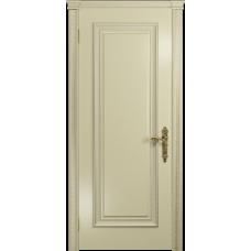 Ульяновская дверь Версаль-5 Декор эмаль слоновая кость глухая
