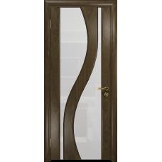 Ульяновская дверь Веста американский орех стекло триплекс белый