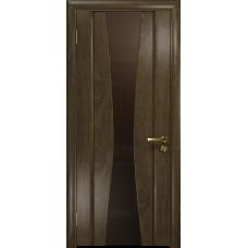 Ульяновская дверь Соната-2 американский орех стекло триплекс бронзовый