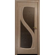 Ульяновская дверь Диона-2 дуб стекло бронзовое пескоструйное «лилия»
