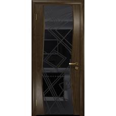 Ульяновская дверь Грация-3 американский орех стекло триплекс черный 3d «куб»