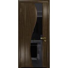 Ульяновская дверь Фрея-2 американский орех тонированный стекло триплекс черный