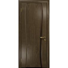 Ульяновская дверь Портелло-1 американский орех стекло триплекс бронзовый