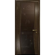 Ульяновская дверь Грация-3 американский орех стекло триплекс бронзовый «вьюнок» глянцевый
