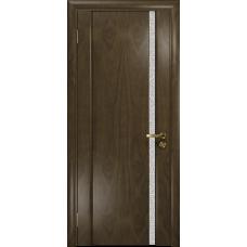 Ульяновская дверь Триумф-1 американский орех стекло триплекс белый с тканью