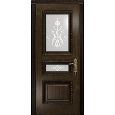 Ульяновская дверь Версаль-2 Декор американский орех тонированный стекло белое пескоструйное «версаль-2»