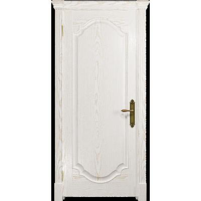 Ульяновская дверь Валенсия-2 ясень белый золото глухая