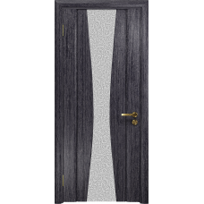 Ульяновская дверь Соната-2 абрикос стекло триплекс белый с тканью