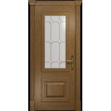 Ульяновская дверь Кардинал ясень античный стекло витраж «адель»