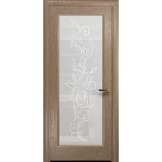 Ульяновская дверь Миланика-1 дуб стекло белое пескоструйное «миланика-1»