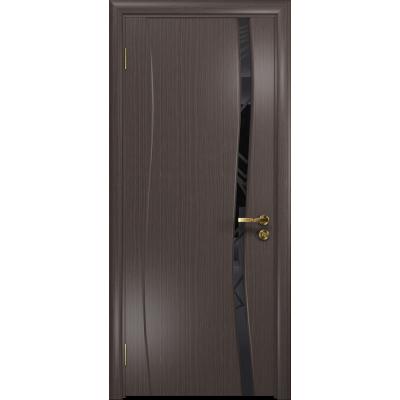 Ульяновская дверь Грация-1 эвкалипт стекло триплекс черный 3d «куб»