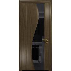 Ульяновская дверь Фрея-2 американский орех стекло триплекс черный