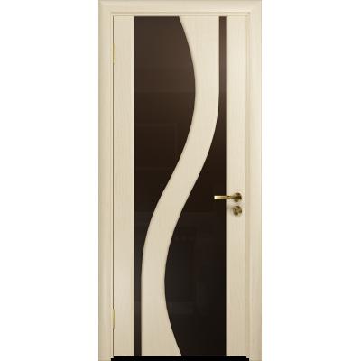 Ульяновская дверь Веста ясень слоновая кость стекло триплекс бронзовый