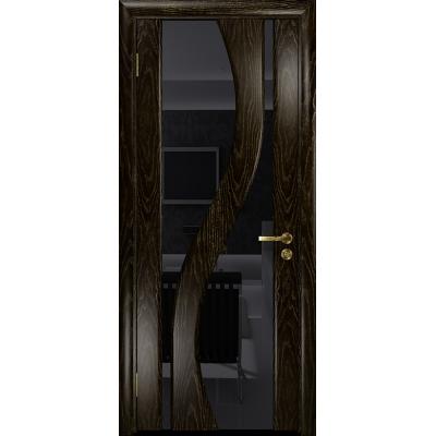 Ульяновская дверь Веста ясень венге золото стекло триплекс черный
