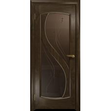 Ульяновская дверь Диона-2 американский орех тонированный стекло бронзовое пескоструйное «капля»