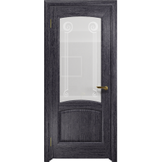 Ульяновская дверь Ровере абрикос стекло белое пескоструйное «зенон»