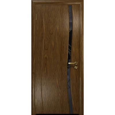 Ульяновская дверь Грация-1 сукупира стекло триплекс черный 3d «куб»