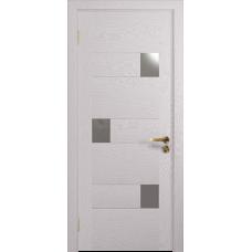 Ульяновская дверь Ронда-1 ясень белый стекло триплекс зеркало