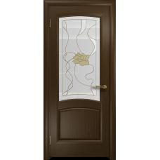 Ульяновская дверь Ровере венге стекло витраж «соната»