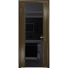 Ульяновская дверь Триумф-3 американский орех стекло триплекс черный