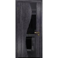 Ульяновская дверь Фрея-2 абрикос стекло триплекс черный