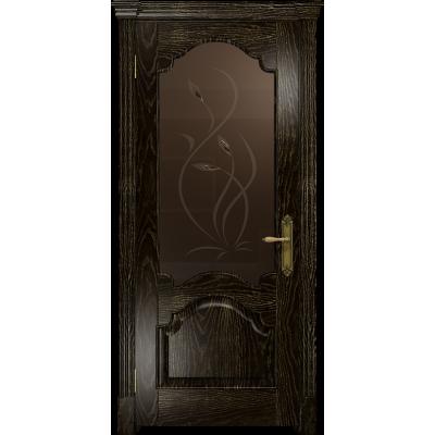 Ульяновская дверь Валенсия-1 ясень венге золото стекло бронзовое пескоструйное «фиор»