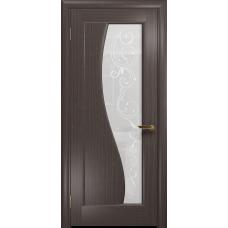 Ульяновская дверь Фрея-1 эвкалипт стекло белое пескоструйное «сабина»