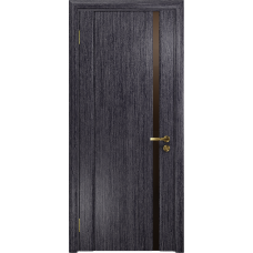 Ульяновская дверь Триумф-1 абрикос стекло триплекс бронзовый