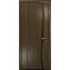 Ульяновская дверь Портелло-1 американский орех стекло триплекс бронзовый «вьюнок» глянцевый