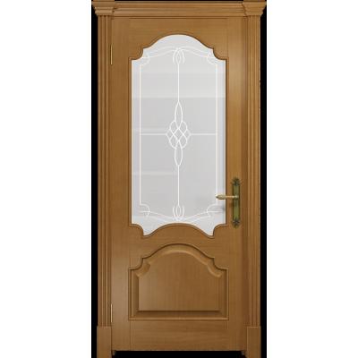 Ульяновская дверь Валенсия-1 анегри стекло белое пескоструйное «корено»