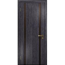 Ульяновская дверь Триумф-2 абрикос стекло триплекс бронзовый