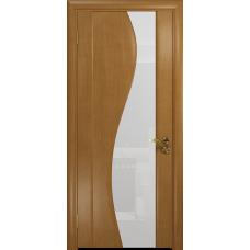Ульяновская дверь Фрея-2 анегри стекло триплекс белый