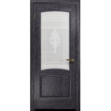 Ульяновская дверь Ровере абрикос стекло белое пескоструйное «верано»