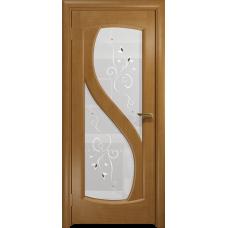 Ульяновская дверь Диона-2 анегри стекло белое пескоструйное «лилия»