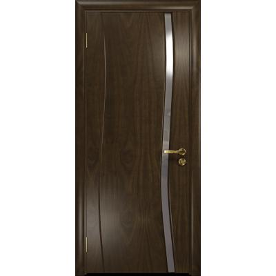 Ульяновская дверь Грация-1 американский орех тонированный стекло триплекс зеркало
