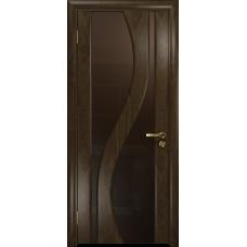 Ульяновская дверь Веста американский орех тонированный стекло триплекс бронзовый