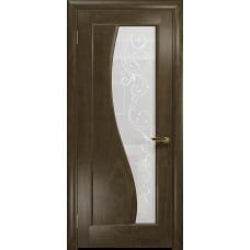 Ульяновская дверь Фрея-1 американский орех стекло белое пескоструйное «сабина»