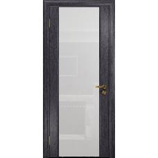 Ульяновская дверь Триумф-3 абрикос стекло триплекс белый