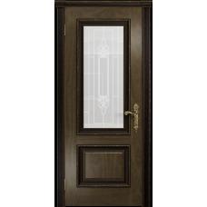 Ульяновская дверь Версаль-1 Декор американский орех стекло белое пескоструйное «кардинал»