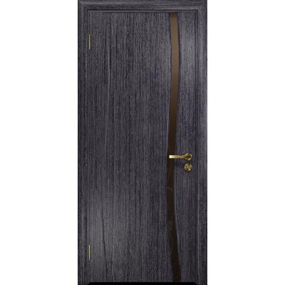 Ульяновская дверь Грация-1 абрикос стекло триплекс бронзовый «вьюнок» глянцевый