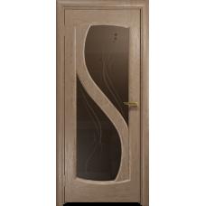 Ульяновская дверь Диона-2 дуб стекло бронзовое пескоструйное «капля»