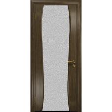 Ульяновская дверь Портелло-2 американский орех стекло триплекс белый с тканью