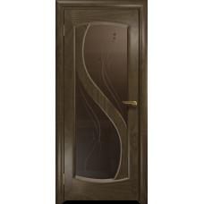 Ульяновская дверь Диона-2 американский орех стекло бронзовое пескоструйное «капля»
