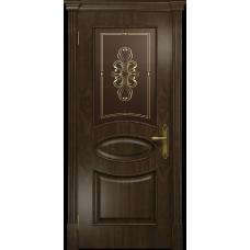 Ульяновская дверь Санремо американский орех тонированный стекло бронзовое пескоструйное «вдохновение»