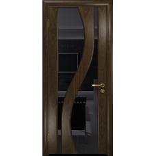 Ульяновская дверь Веста американский орех тонированный стекло триплекс черный