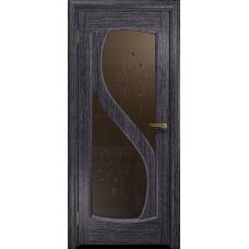 Ульяновская дверь Диона-2 абрикос стекло бронзовое пескоструйное «лилия»
