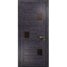 Ульяновская дверь Ронда-1 абрикос стекло триплекс бронзовый