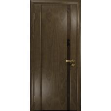 Ульяновская дверь Триумф-1 американский орех стекло триплекс бронзовый «вьюнок» матовый