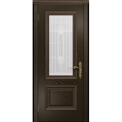 Ульяновская дверь Версаль-1 ясень венге стекло белое пескоструйное «кардинал»