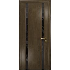 Ульяновская дверь Триумф-2 американский орех стекло триплекс черный 3d «куб»